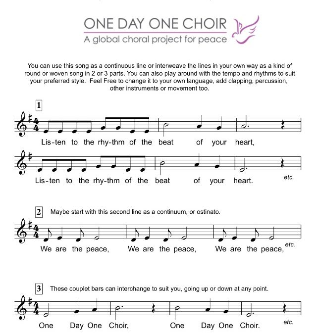 Wondering what to sing on Peace Day?